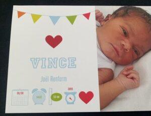 Pas geboren Vince